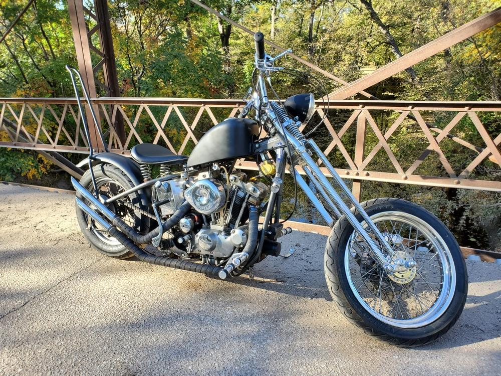 4 Over Black fits Harley Davidson Springer Front End