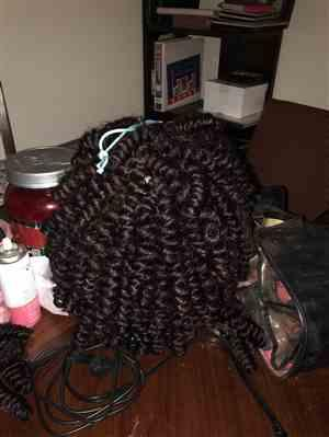 Dorese C. verified customer review of Outre X-Pression Curlette Crochet Braid LARGE 10 & 20 Inch