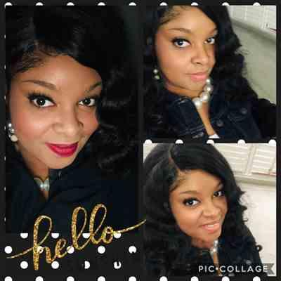 Cearra Burrell-Williams verified customer review of Freetress Equal Invisible L Part Wig LETTY