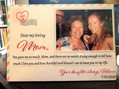 "365Canvas ""Dear My Loving Mom"" Desktop Photo Plaque – Wedding Gift for Mom From Daughter Review"