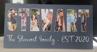 365Canvas Custom Family Name Photo Letter Canvas Print Review