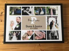 365Canvas - Custom Photo Gifts Custom Wedding Monogram Photo Collage Canvas Print Review