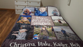 365Canvas My Favorite People Call Me Grandma Photo Collage Blanket Review