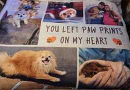 365Canvas You Left Paw Prints On My Heart Custom Photo Blanket Review