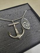 Maritime Supply Co Sterling Silver Anchor Necklace & Double-Sided MEMENTO MORI/MEMENTO VIVERE Wax Seal Pendant Review