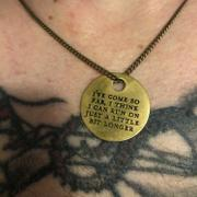 Maritime Supply Co I'VE COME SO FAR Quote - Brass Coin Necklace Review
