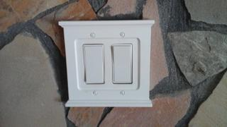Wallplate Warehouse Mantel White Wood - 2 Rocker Wallplate Review