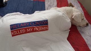 Project War Path Hillary Clinton Killed My Friends T-shirt (PWP Logo White) Review