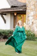 Baltic Born Jenna Green Satin Maxi Dress Review