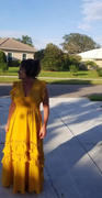 Baltic Born Jasmine Mustard Ruffle Maxi Dress Review