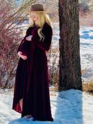 Baltic Born Jada Mulberry Ribbed Velvet Wrap Dress Review