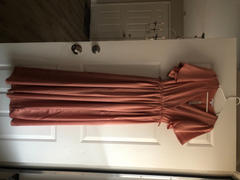Baltic Born Sicily Blush Satin Maxi Dress Review