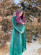 Baltic Born Serena Forest Shimmer Velvet Wrap Dress Review