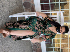 Baltic Born Uma Green Floral Velvet Maxi Dress Review