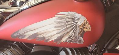 Brave Wolf Customs Skull Warbonnet Decal Set - Color Review