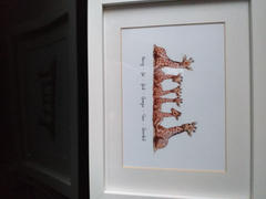 Pawprint Illustration Your Giraffe Family! Giraffes Family Custom Names Print | Nursery Wall Art Review