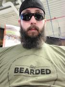 Live Bearded Lifestyle Values Tee - Military Green Review