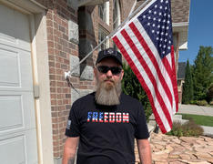 Live Bearded 2020 4th of July Freedom Tee - Black Review