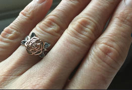 Romanticwork Jewelry Exquisite Floral Ring Solid 925 Silver Flower Jewelry Proposal Anniversary Gift Engagement  For Women Review