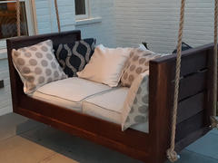 ThePorchSwingCompany.com Barn-Shed-Play 4 Hole Black Porch Swing Hangers Review