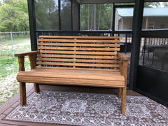 ThePorchSwingCompany.com Centerville Amish Heavy Duty 800 Lb Roll Back Treated Garden Bench Review