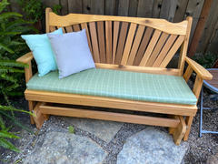 ThePorchSwingCompany.com A&L Furniture Co. Fanback Red Cedar Porch Glider Review