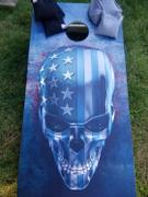 American Cornhole Association USA Skull Regulation Cornhole Boards Bag Toss Game Set Review