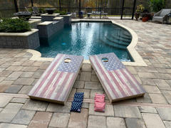 American Cornhole Association Star Rustic American Flag Professional Cornhole Boards Review