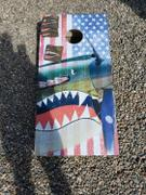 American Cornhole Association Vintage American Flag Plane Regulation Cornhole Boards Bag Toss Game Set Review