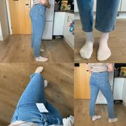 Famme Mid Blue High Straight Jeans Review