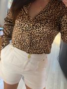 Holland Cooper Silk V-Neck Blouse (Leopard) Review