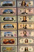 Proud Patriots Set of all 7 - COLORIZED 2-SIDED U.S. Bills Currency $1 / $2 / $5 / $10 /$20 / $50 / $100 Review