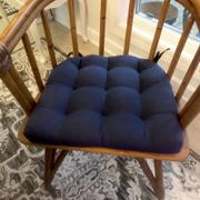 Barnett Home Decor Cotton Duck Navy Blue Solid Color Dining Chair Pads  - Latex Foam Fill - Reversible Review