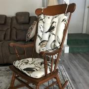 Barnett Home Decor Song Bird Black Rocking Chair Cushions - Latex Foam Fill Review