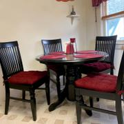 Barnett Home Decor Chenille Rib Claret Red Dining Chair Pad with Ties - Latex Foam Fill Review