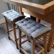 Barnett Home Decor Hayden Grey Saddle Stool Cushions - Gaucho Stool - Satori Seat Cushions Review