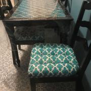 Barnett Home Decor Fulton Ogee Aqua Indoor / Outdoor Dining Chair Pads & Patio Cushions Review