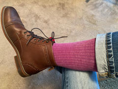 Southern Scholar FUCHSIA RIBBED SOLID - A FUCHSIA RIBBED DRESS SOCK | NMP Review
