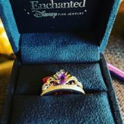 Enchanted Disney Fine Jewelry Enchanted Disney Fine Jewelry Sterling Silver and 10K Rose Gold with 1/10cttw Diamonds and Amethyst Ariel Shell Tiara Ring Review