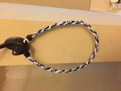 Elite Athletic Gear Royal Blue & White Titanium Necklace Review