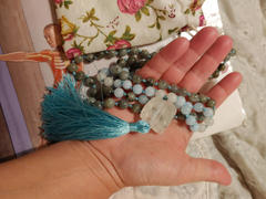 The Crystal Elephant Positive Change Mala Necklace - Labradorite, Aquamarine, Raw Quartz Review