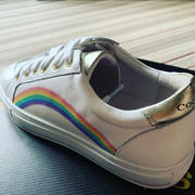 Cocorose London Hoxton - White Leather Trainers with Rainbow Review