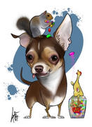 Canine Caricatures FAVORITE THINGS Pet Caricature Portrait Review