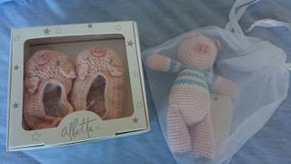 JUST ADD MILK Crochet Pig Rattle Toy | Albetta Review