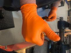 YourGloveSource.com Care On Nitrile Exam Gloves in Hi-Vis Orange, 6.0 Mil  Powder Free, by TG Medical Review