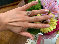 local eclectic 14K Rose Gold Victoria Vintage Cluster Ring Review