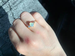 local eclectic Opal & Rainbow Moonstone Venezian Fantasy Ring Review