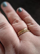 local eclectic Solid Gold Textured Diamond Band Review