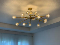 SILJOY LIGHTING Modern Brass Sputnik Ceiling Light Review