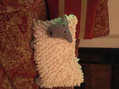 Deramores Sheep Cushion by Julia Marsh in Rowan Big Wool Review